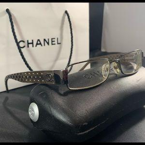 👓CHANEL👓 Grey Matelasse Eyeglasses